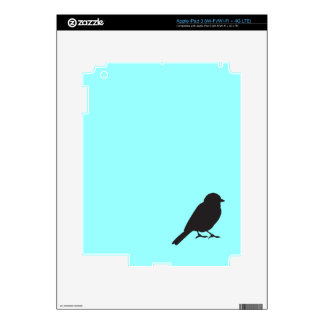 Sparrow silhouette chic blue swallow bird decal for iPad 3