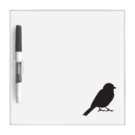 Sparrow silhouette chic cute girly swallow bird Dry-Erase board
