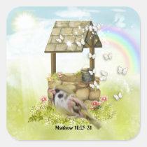sparrow, stickers, matthew, bible, school, sunday, education, class, scrapbooking, Sticker with custom graphic design