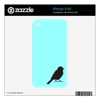 Sparrow swallow bird silhouette blue birds graphic skin for iPhone 4