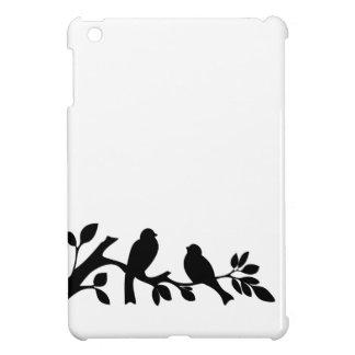 Sparrow swallow birds black white silhouette iPad mini case
