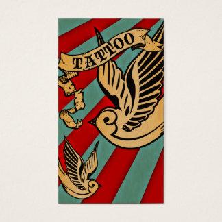 sparrow tattoo 3 business card