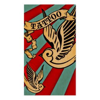 sparrow tattoo coupon card business card