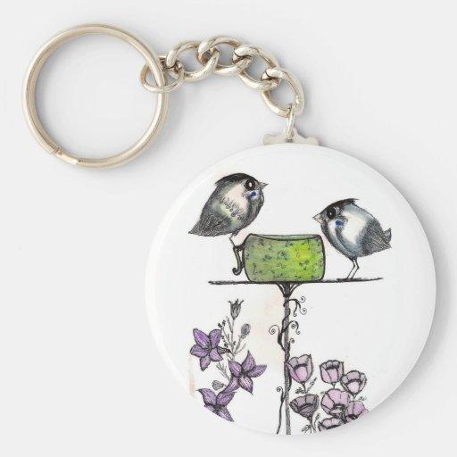 Sparrow Teatime - Keychain
