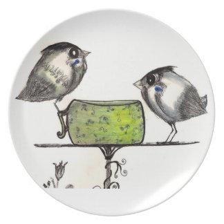 Sparrow Teatime - Plate