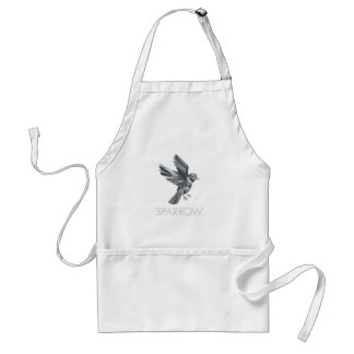 Sparrow Text Low Polygon Adult Apron