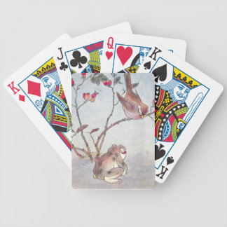 Sparrow, Toad & Rose Hips Bicycle Playing Cards