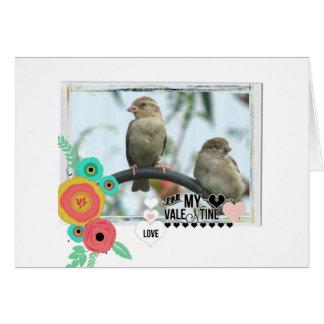 Sparrow Valentine Card