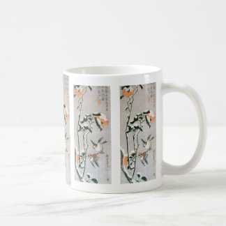 Sparrows and Camellia in Snow by Ando Hiroshige Coffee Mug