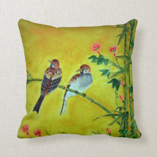 Sparrows and Morning Glorys  MoJo Pillows