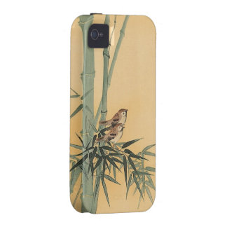 Sparrows on bamboo tree by Ohara Koson iPhone 4/4S Case
