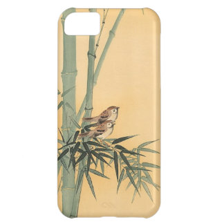 Sparrows on bamboo tree by Ohara Koson iPhone 5C Cases