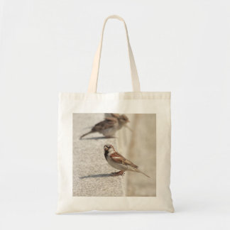 sparrows on the step budget tote bag