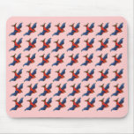 Sparrows Pink Mousepad Mouse Pads