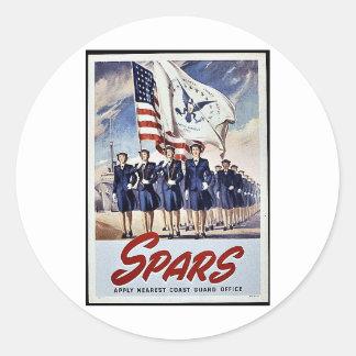Spars Round Stickers