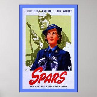 SPARS Vintage World War 2 Print