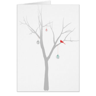 Sparse Christmas Tree Card