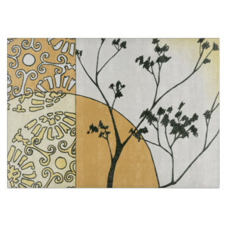 Sparse Tree Silhouette by Megan Meagher Cutting Board