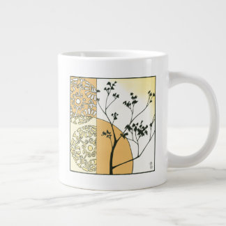 Sparse Tree Silhouette by Megan Meagher Giant Coffee Mug