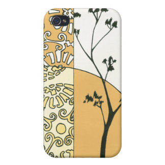 Sparse Tree Silhouette by Megan Meagher iPhone 4 Cases