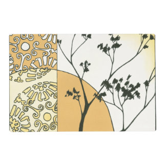 Sparse Tree Silhouette by Megan Meagher Laminated Place Mat