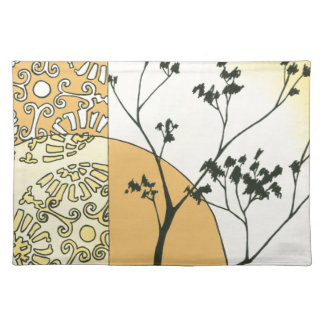 Sparse Tree Silhouette by Megan Meagher Cloth Placemat