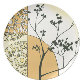 Sparse Tree Silhouette by Megan Meagher Dinner Plate