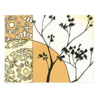 Sparse Tree Silhouette by Megan Meagher Postcard
