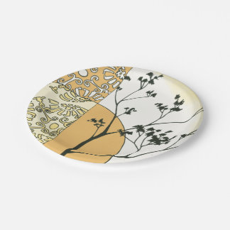 Sparse Tree Silhouette by Megan Meagher 7 Inch Paper Plate