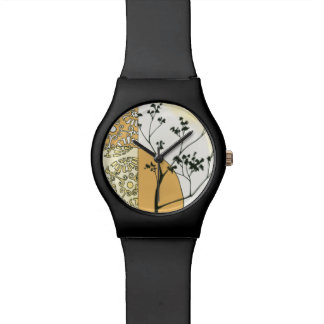 Sparse Tree Silhouette by Megan Meagher Wrist Watch