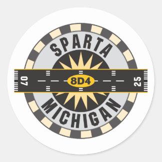 Sparta, MI 8D4 Airport Classic Round Sticker