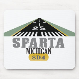 Sparta MI - Airport Runway Mouse Pad