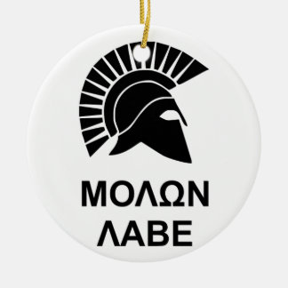 Sparta molon labe ceramic ornament