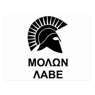 Sparta molon labe postcard