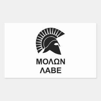 Sparta molon labe rectangular sticker