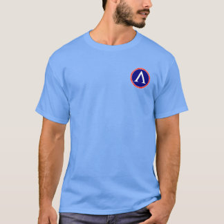 Sparta Red, White & Blue Lambda Seal Shirt