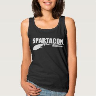 """Spartacon """"Shall We Begin?"""" Women's Tank (dark)"""