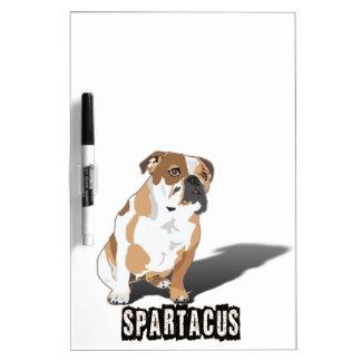 Spartacus Bulldog Ice loves Coco Dry Erase Board
