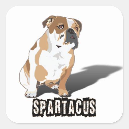 Spartacus Bulldog Ice loves Coco Square Sticker