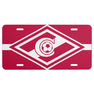 Spartak Moscow License Plate