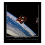 SPARTAN-201 spacecraft backdropped Posters