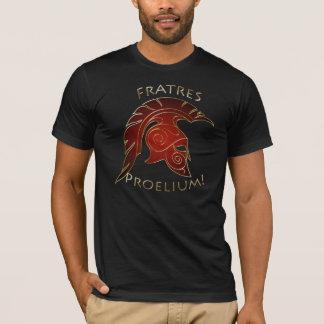 Spartan Battle Trojan Greek Warrior Red Gold T-Shirt