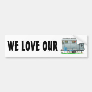 Spartan Camper Trailer RV Bumper Sticker