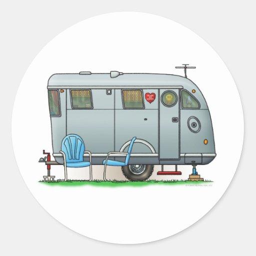 Spartan Camper Trailer RV Classic Round Sticker
