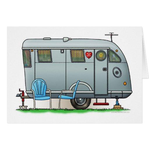 Spartan Camper Trailer RV Greeting Card