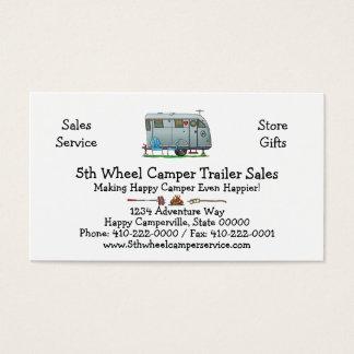 Spartan Camper Trailer RV HSH Business Card