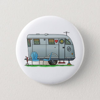 Spartan Camper Trailer RV Pinback Button