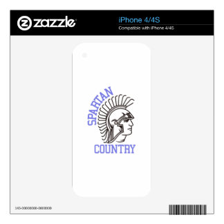 Spartan Country Decal For The iPhone 4S