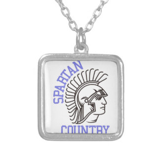 Spartan Country Square Pendant Necklace