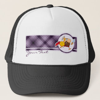 Spartan Gladiator; Purple Trucker Hat